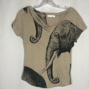Gaze Knit Elephant Top Size XS